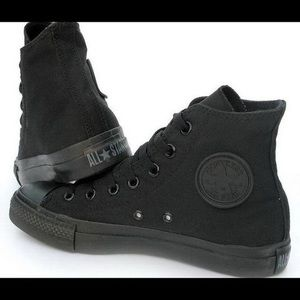 Converse high top all black sneakers